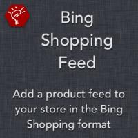 Bing Shopping Feed
