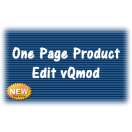 One Page Product Edit vQmod
