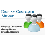 Display Customer Group Name