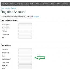 New Custom Extra Fields on Registration