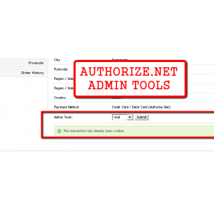Authorize.net Admin Tools 15x/2xx (Refund/Void/Capture)