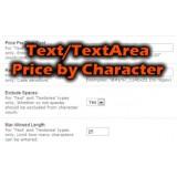 Text/Textarea Pricing per character
