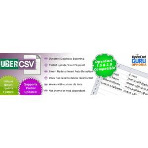 Uber CSV - Batch CSV Edit (1.5.x/2.0.x)