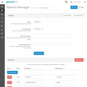Rewrite Manager