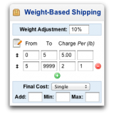 Weight-Based Shipping