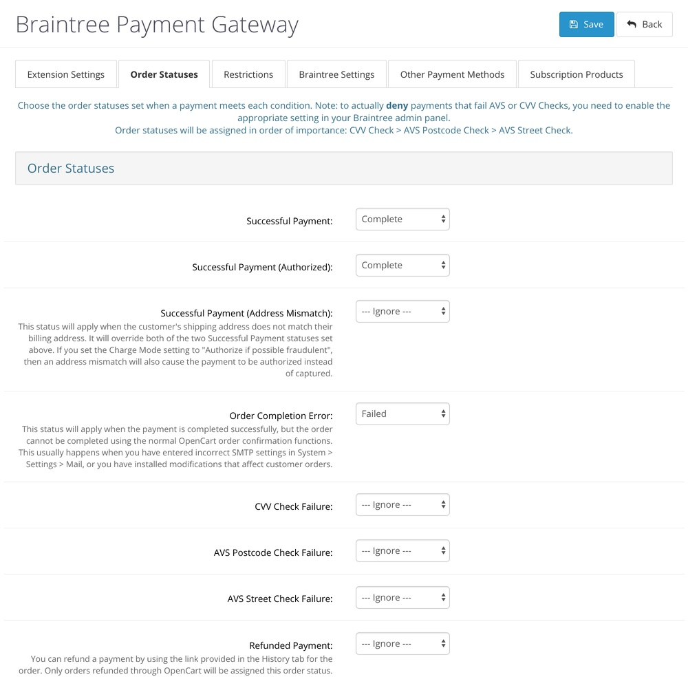 UPDATED] Braintree Payment Gateway - OpenCart Community