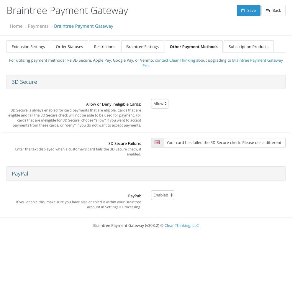 UPDATED] Braintree Payment Gateway Pro - OpenCart Community